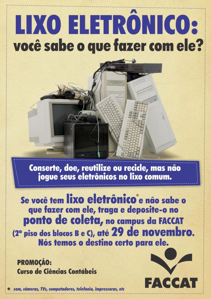 Cartaz Lixo Eletrônico 2013
