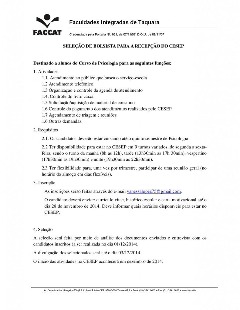 EDITAL DE BOLSISTA PARA A RECEPÇÃO 2015-page-001