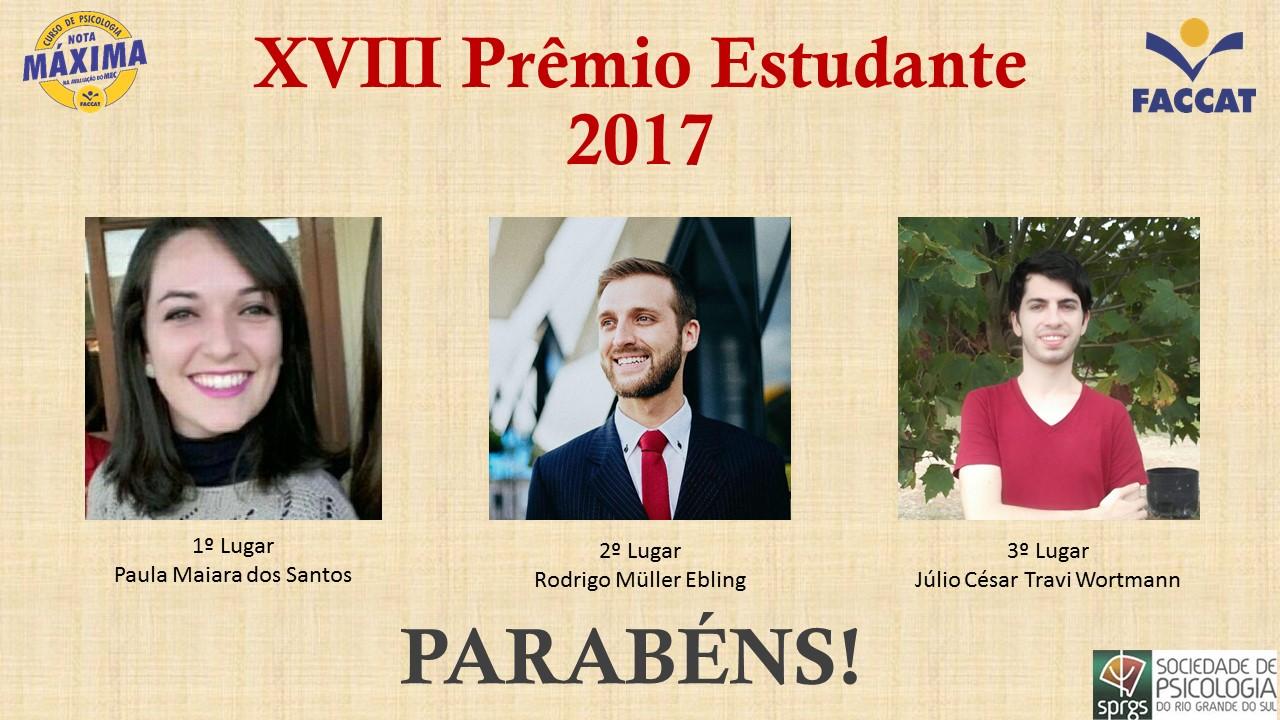 XVIII Prêmio Estudante